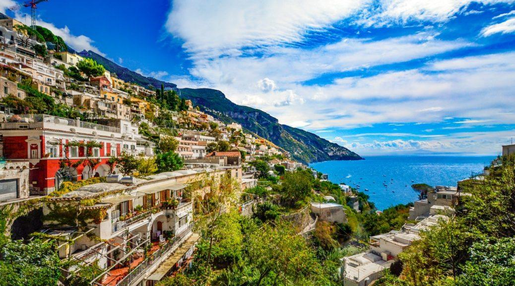 flot udsigt i italien